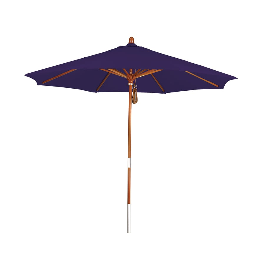 Awesome Phat Tommy Purple Market Patio Umbrella (Common: 9 Ft W X 9