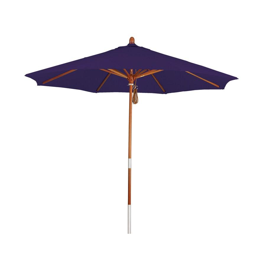 Phat Tommy Purple Market Patio Umbrella (Common: 9-ft W x 9-ft L; Actual: 9-ft W x 9-ft L)