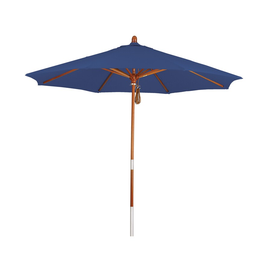 Phat Tommy Sapphire Market Patio Umbrella (Common: 9-ft W x 9-ft L; Actual: 9-ft W x 9-ft L)