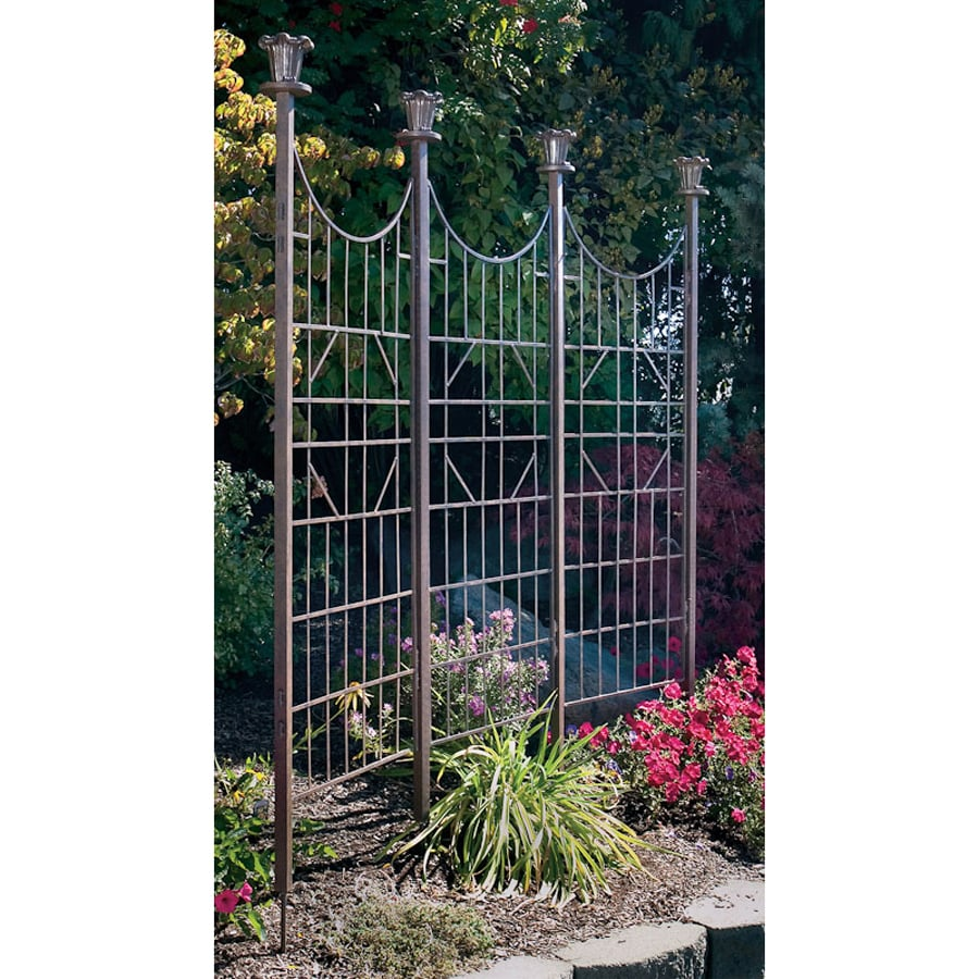 H. Potter 84-in W x 76-in H Charcoal Brown Iron Outdoor Privacy Screen