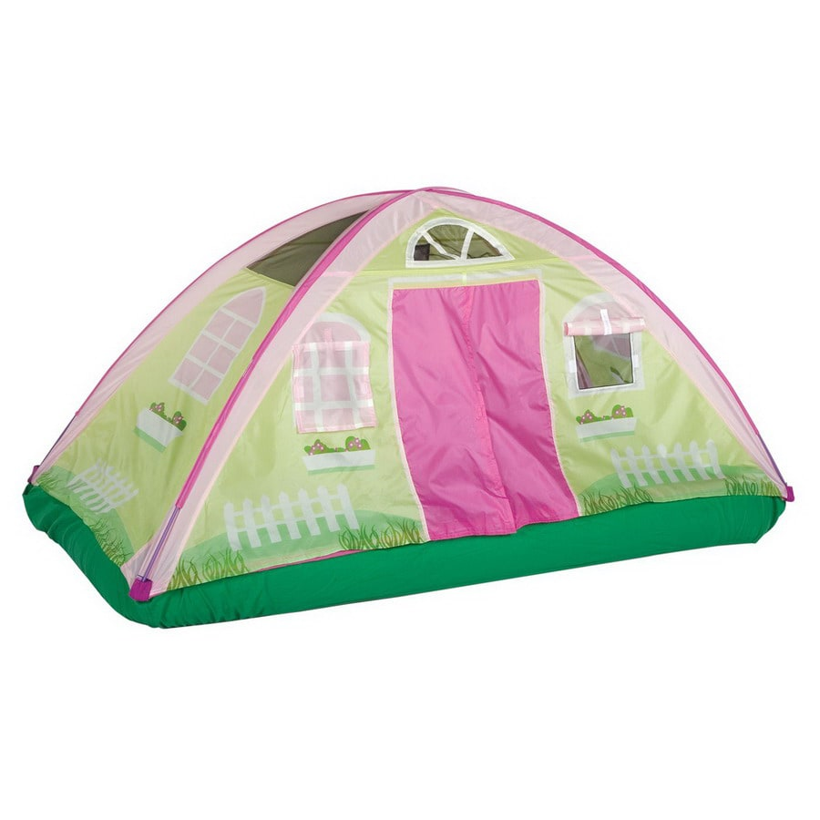 Pacific Play Tents Cottage Bed Tent Plastic Playhouse Kit