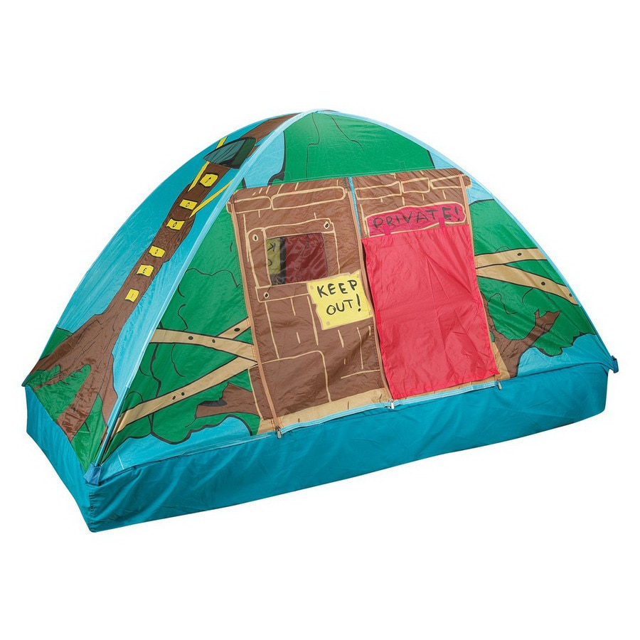 Pacific Play Tents Tree House Bed Tent Plastic Playhouse Kit
