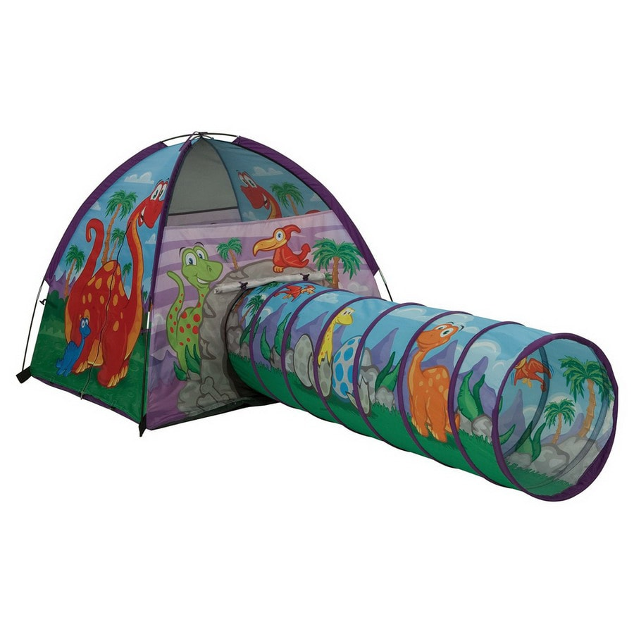 Pacific Play Tents Dinosaur Tent and Tunnel Combo Plastic Playhouse Kit  sc 1 st  Loweu0027s & Shop Pacific Play Tents Dinosaur Tent and Tunnel Combo Plastic ...