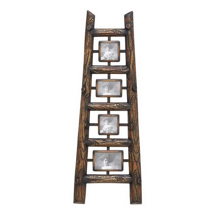 Shop Woodland Imports 14-in x 40-in Ladder Wall Decor Multiple Photo ...