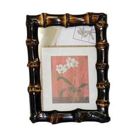 Shop picture frames at lowes bamboo 54 burnt brown picture frame common 5 in x 7 in solutioingenieria Image collections