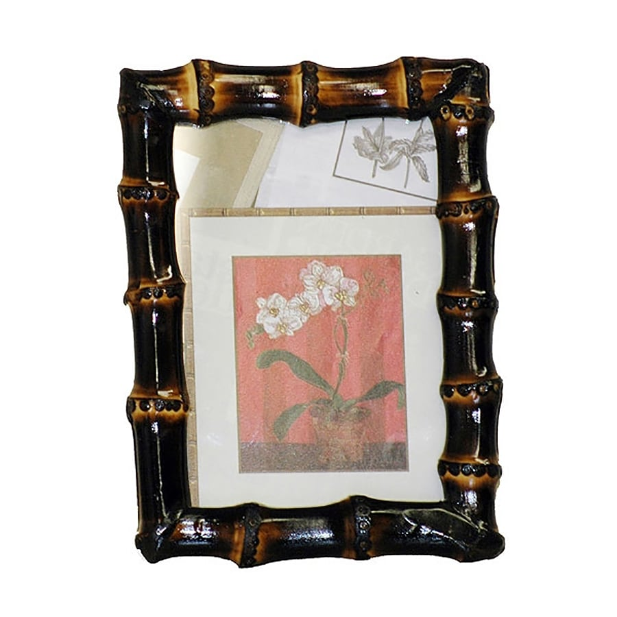 Bamboo 54 Burnt Picture Frame (Common: 5-in x 7-in; Actual: 6-in x 7.5-in)