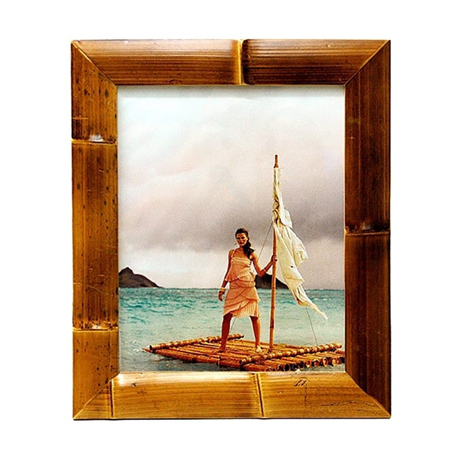 Bamboo 54 Natural Picture Frame (Common: 5-in x 7-in; Actual: 7.75-in x 9.75-in)