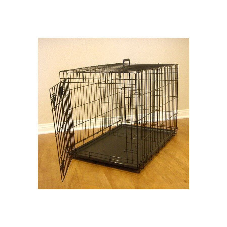 Majestic Pets 2-ft x 1.5-ft x 1.75-ft Black Collapsible Plastic and Wire Pet Crate