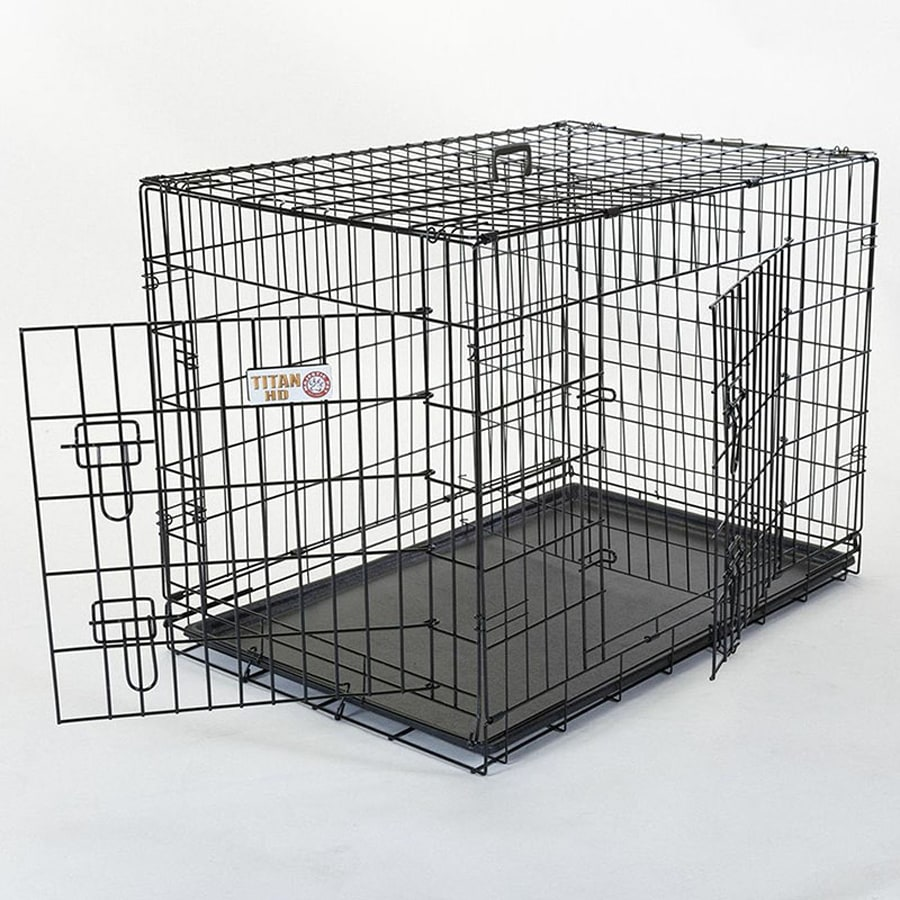 Majestic Pets 3-ft x 2.16-ft x 2-ft Black Collapsible Plastic and Wire Pet Crate