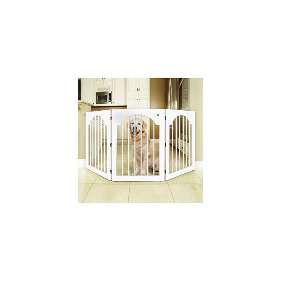 Majestic Pets 53-in W Freestanding Wood Expandable Pet Gate