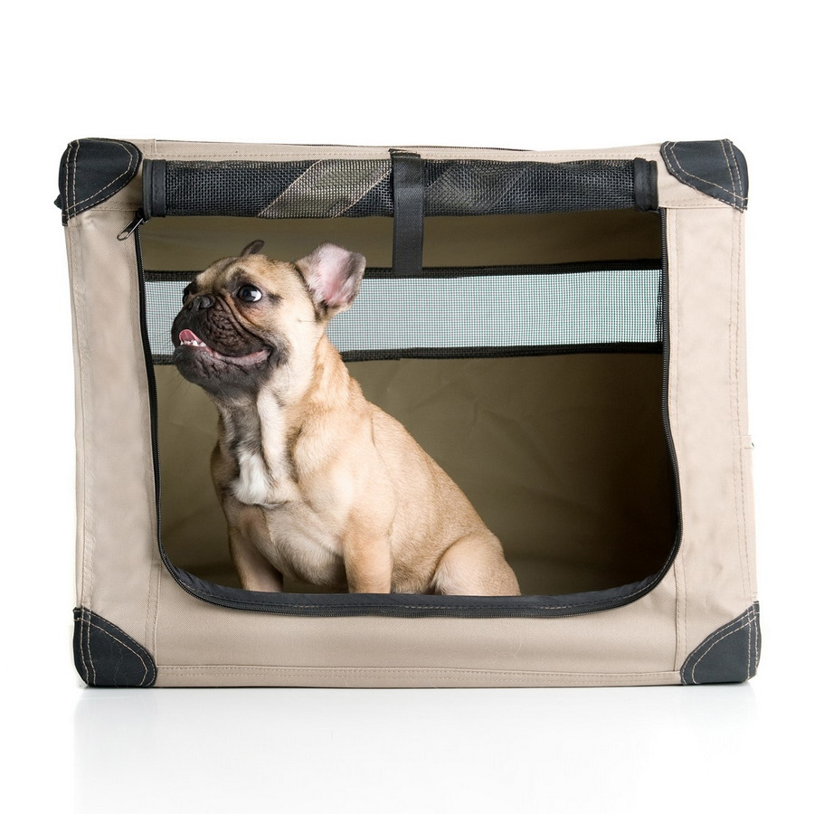 ABO Gear 1.83-ft x 1.25-ft x 1.5-ft Collapsible Plastic Pet Crate