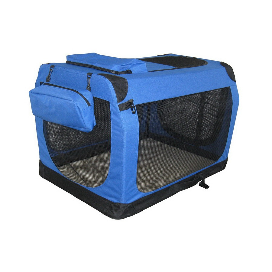 Go Pet Club 2.3-ft x 1.7-ft x 1.7-ft Blue Collapsible Pet Crate