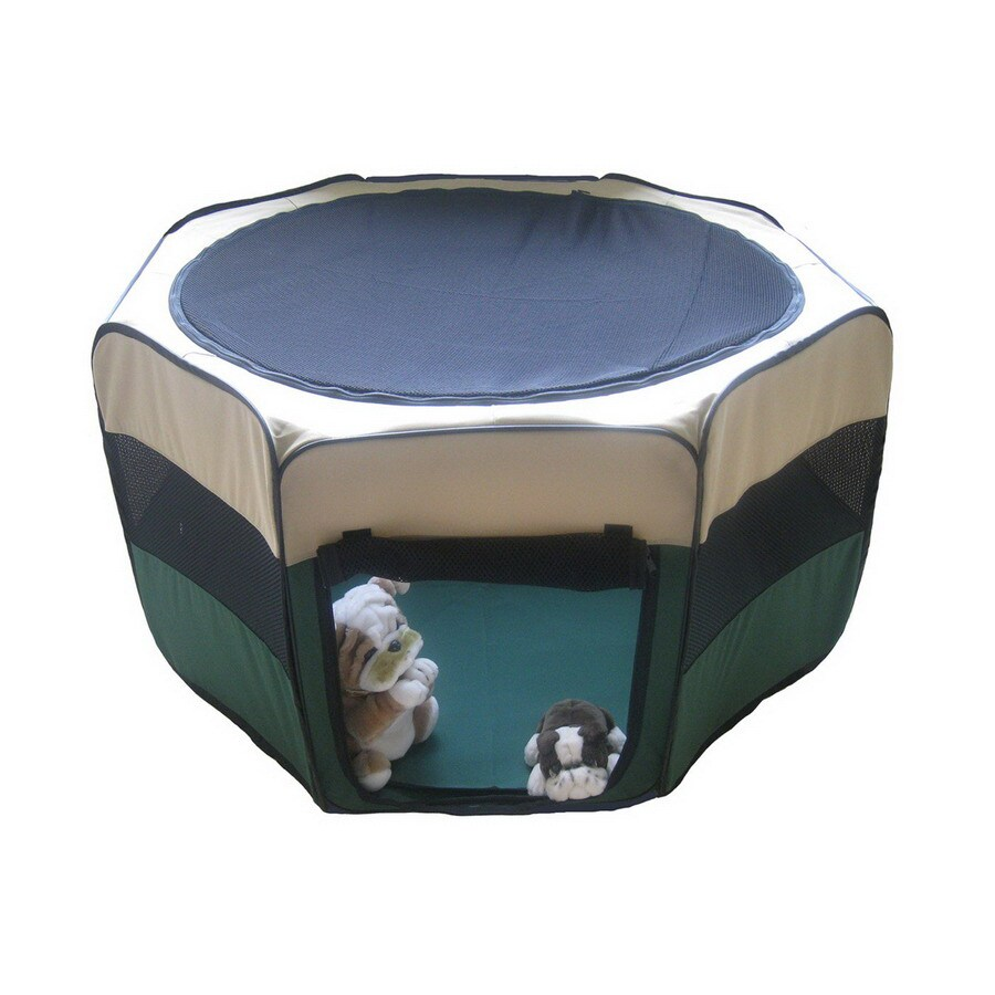 Go Pet Club 1.5-ft x 1.75-ft Green Collapsible Pet Crate