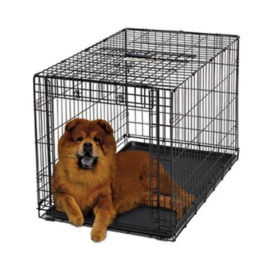 midwest pets 3.08-ft x 2.08-ft x 2.25-ft Collapsible Plastic and Wire Pet Crate