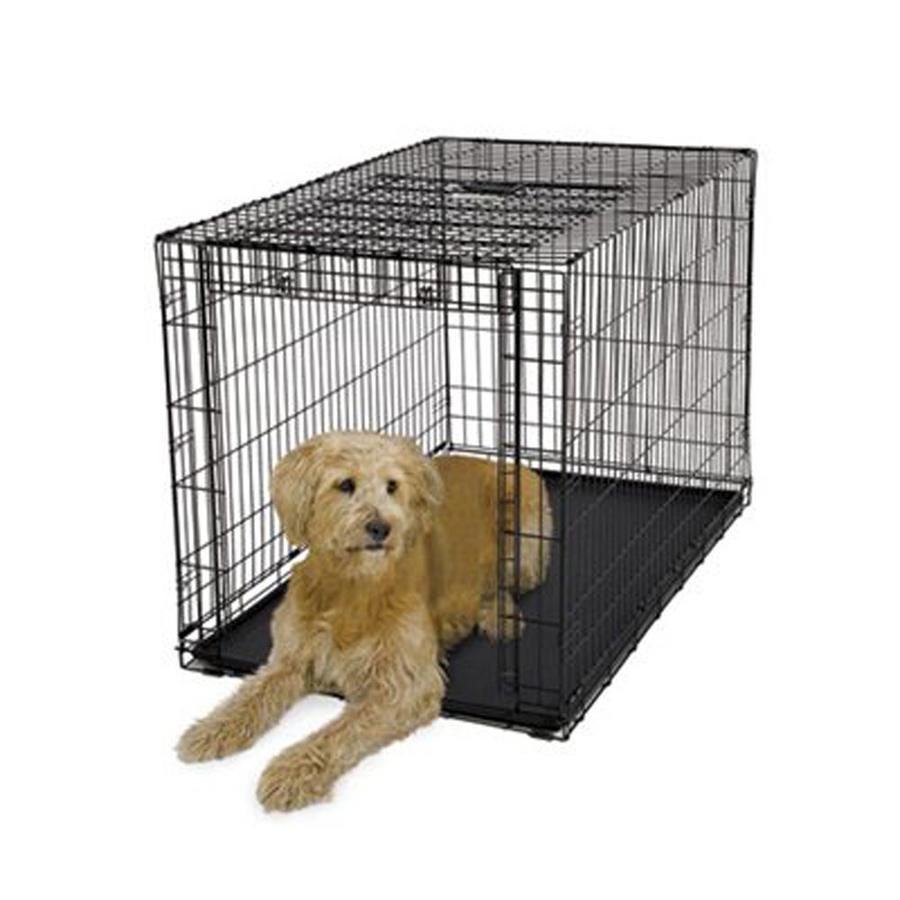 midwest pets 4.08-ft x 2.54-ft x 2.75-ft Collapsible Plastic and Wire Pet Crate