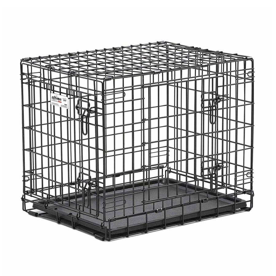 midwest pets 25-in x 18.5-in x 21-in Black CollapsIble Plastic and Wire Pet Crate