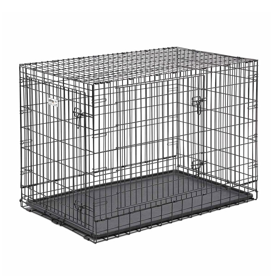 midwest pets 48-in x 30-in x 33-in Black CollapsIble Plastic and Wire Pet Crate