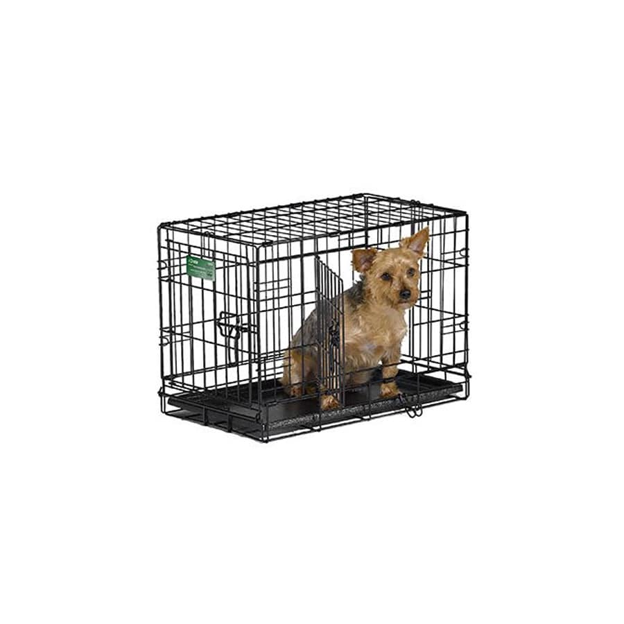 midwest pets 22-in x 13-in x 16-in Black Collapsible Plastic and Wire Pet Crate