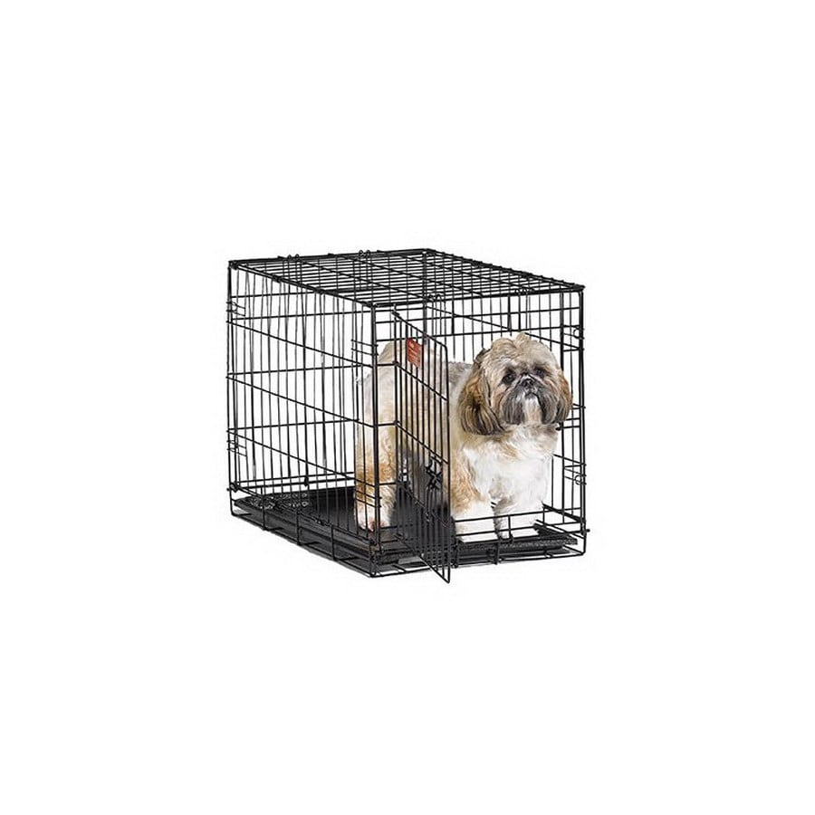 midwest pets 2-ft x 1.5-ft x 1.58-ft Black Collapsible Plastic and Wire Pet Crate