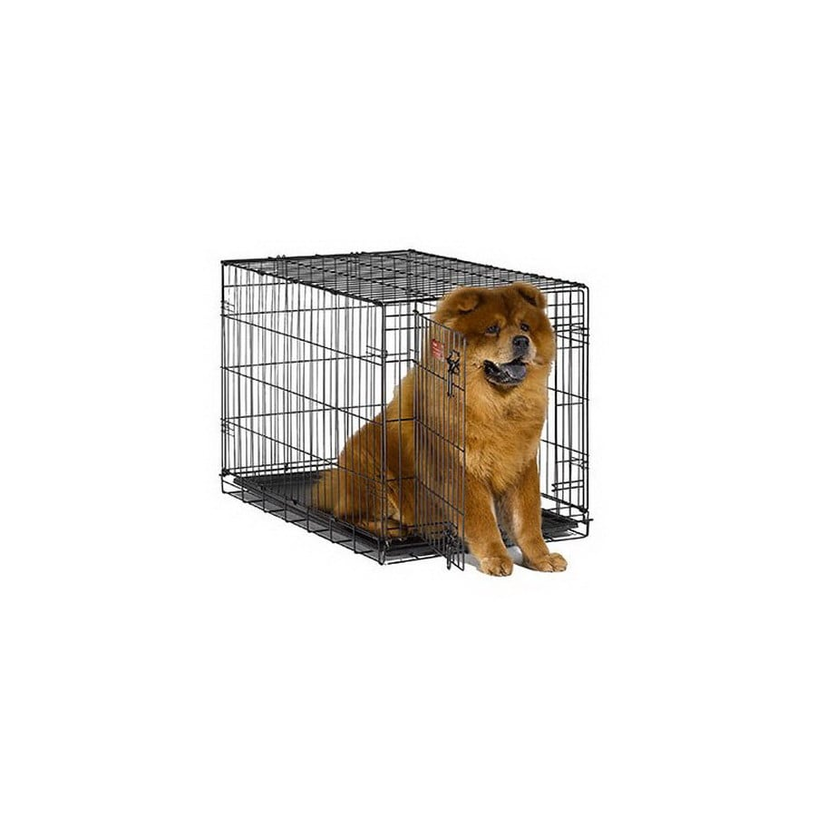 midwest pets 3-ft x 1.91-ft x 2.08-ft Black Collapsible Plastic and Wire Pet Crate