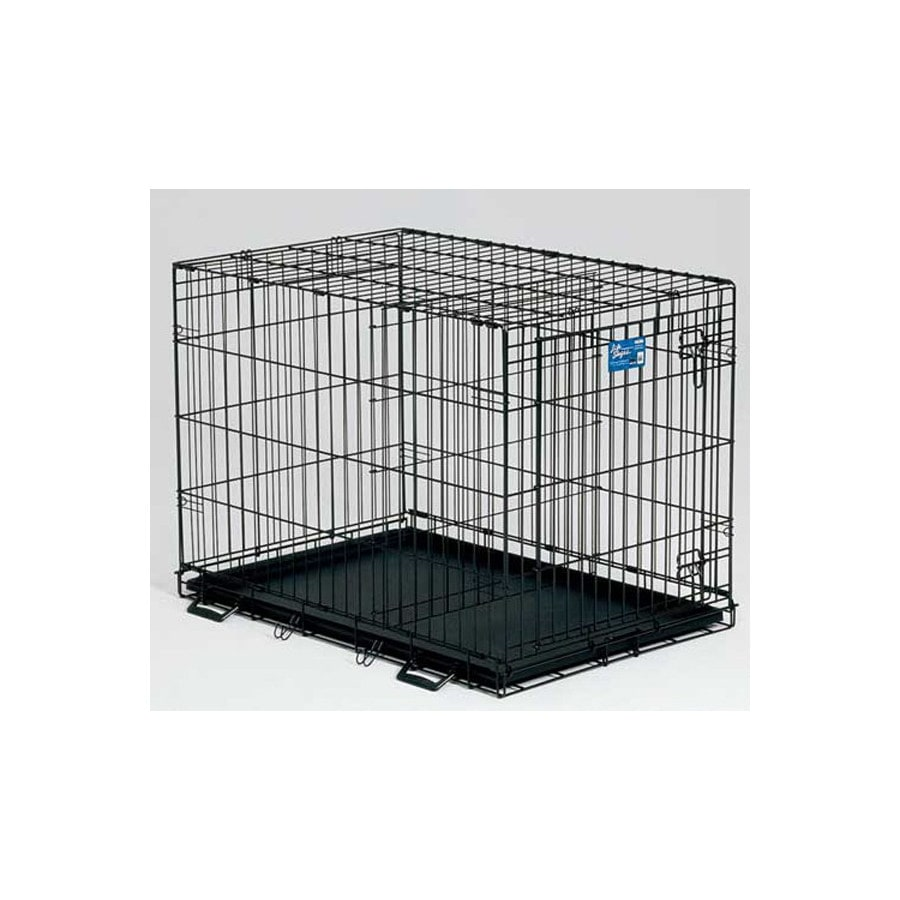 midwest pets 2-ft x 1.5-ft x 1.75-ft Black Collapsible Plastic and Wire Pet Crate