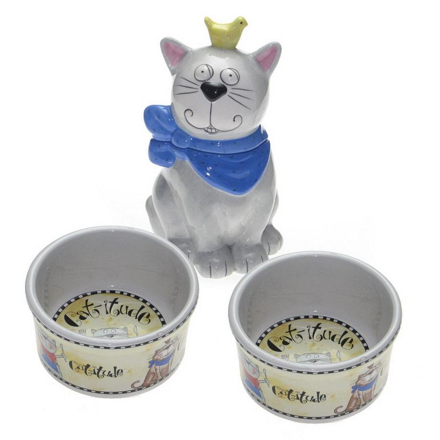 Snoozer Ceramic Double Basin Cat Bowl