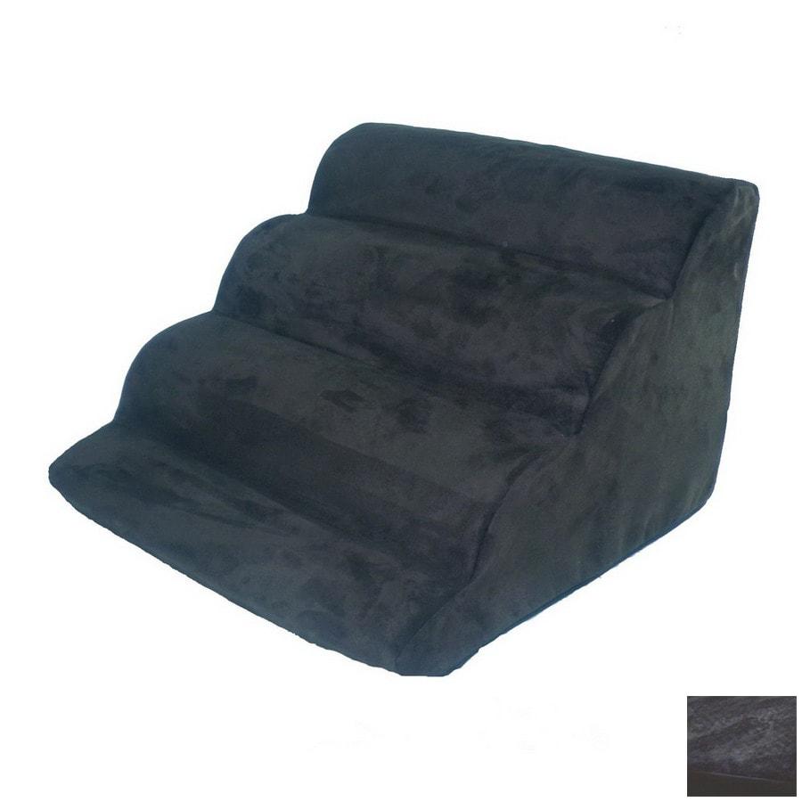 Snoozer Scalloped 6-Step Black Foam Pet Step
