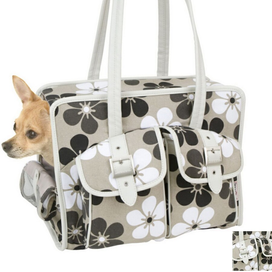 Snoozer 0.91-ft x 1.5-ft x 1.25-ft Neutral Floral Pet Carrier