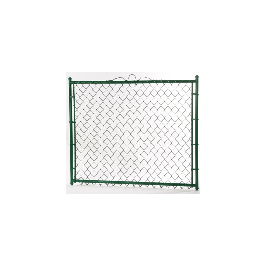(Common: 6-ft x 4-ft; Actual: 6-ft x 3.66-ft) Vinyl Coated Steel Chain-Link Fence Walk-Thru Gate