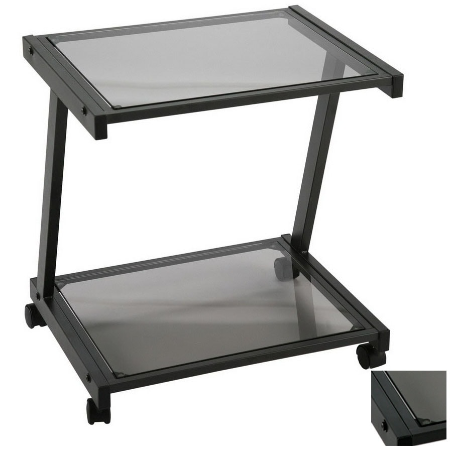 give office showing from style table to the of with industrial your side shelves an more cart three diy printer two