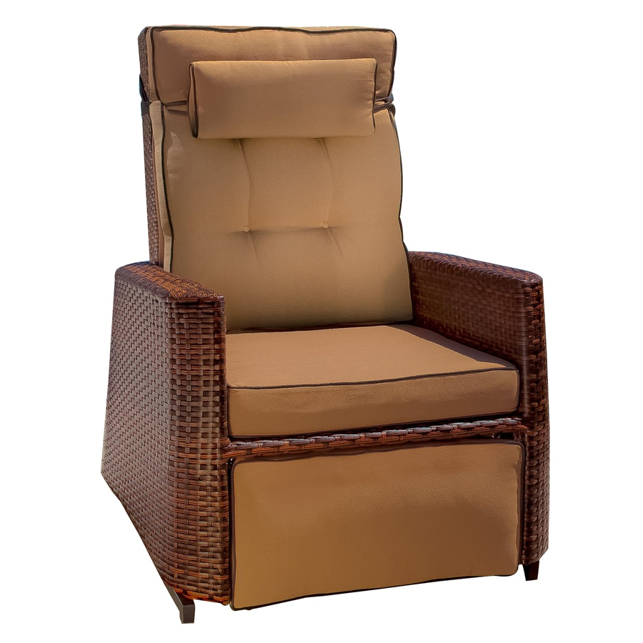 Shop best selling home decor brown wicker recliner at for Selling home interior products