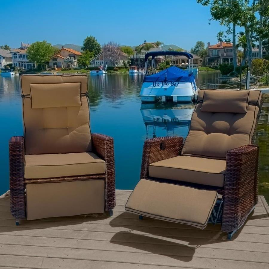 Best Selling Home Decor Brown Wicker Recliner At Lowes.com