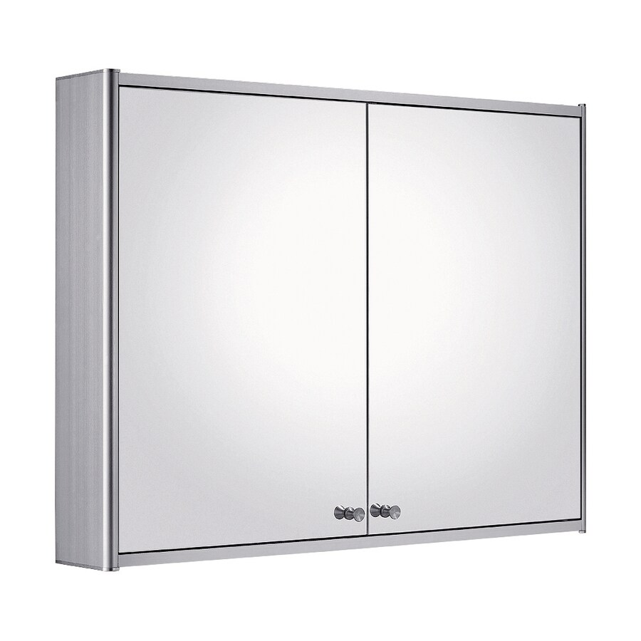 Whitehaus Collection 31.5-in x 23.6-in Rectangle Surface Mirrored Aluminum Medicine Cabinet