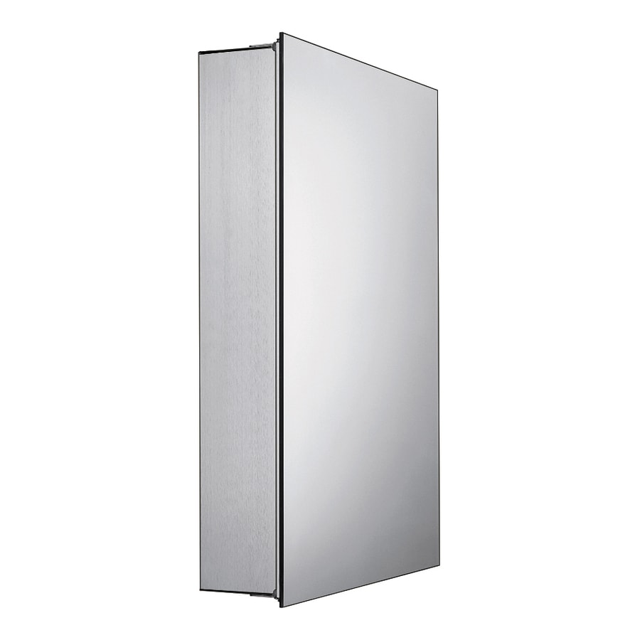 Whitehaus Collection 18.88-in x 26.75-in Rectangle Surface Mirrored Aluminum Medicine Cabinet