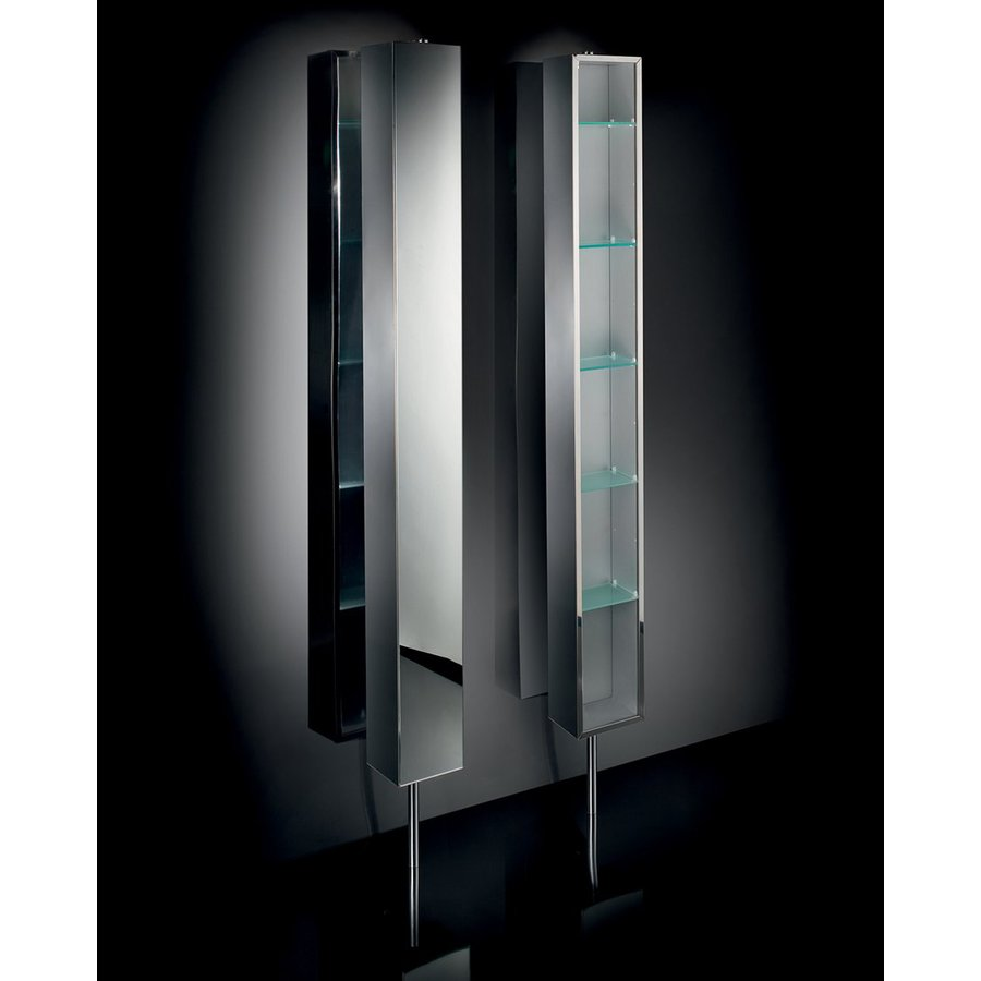 WS Bath Collections Linea 8.3-in x 72-in Rectangle Surface Mirrored Stainless Steel Medicine Cabinet