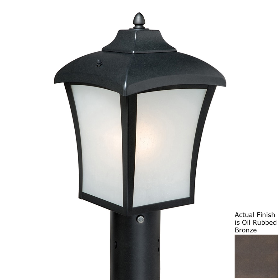 Cascadia Lighting Boardwalk 15.38-in H Oil-Rubbed Bronze Post Light