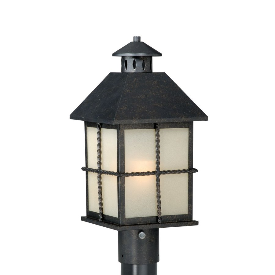Cascadia Lighting Savannah 18-in H Gold Stone Post Light