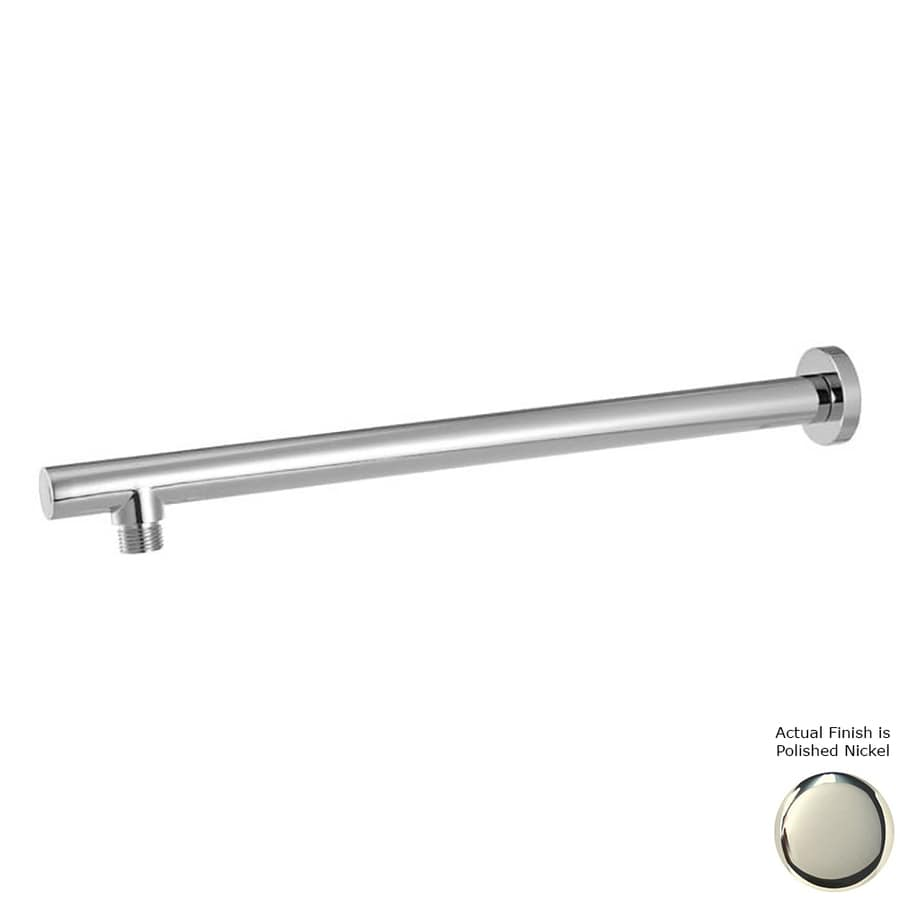 Westbrass Polished Nickel Shower Arm and Flange