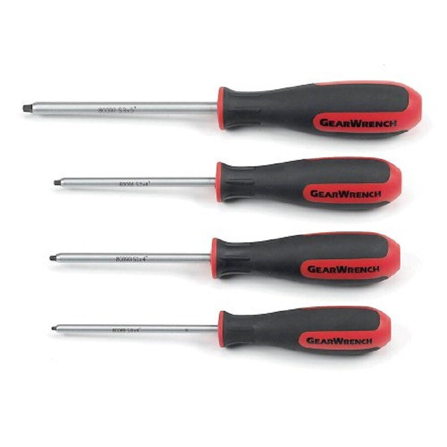 KD Tools 4-Piece Square Screwdriver Set