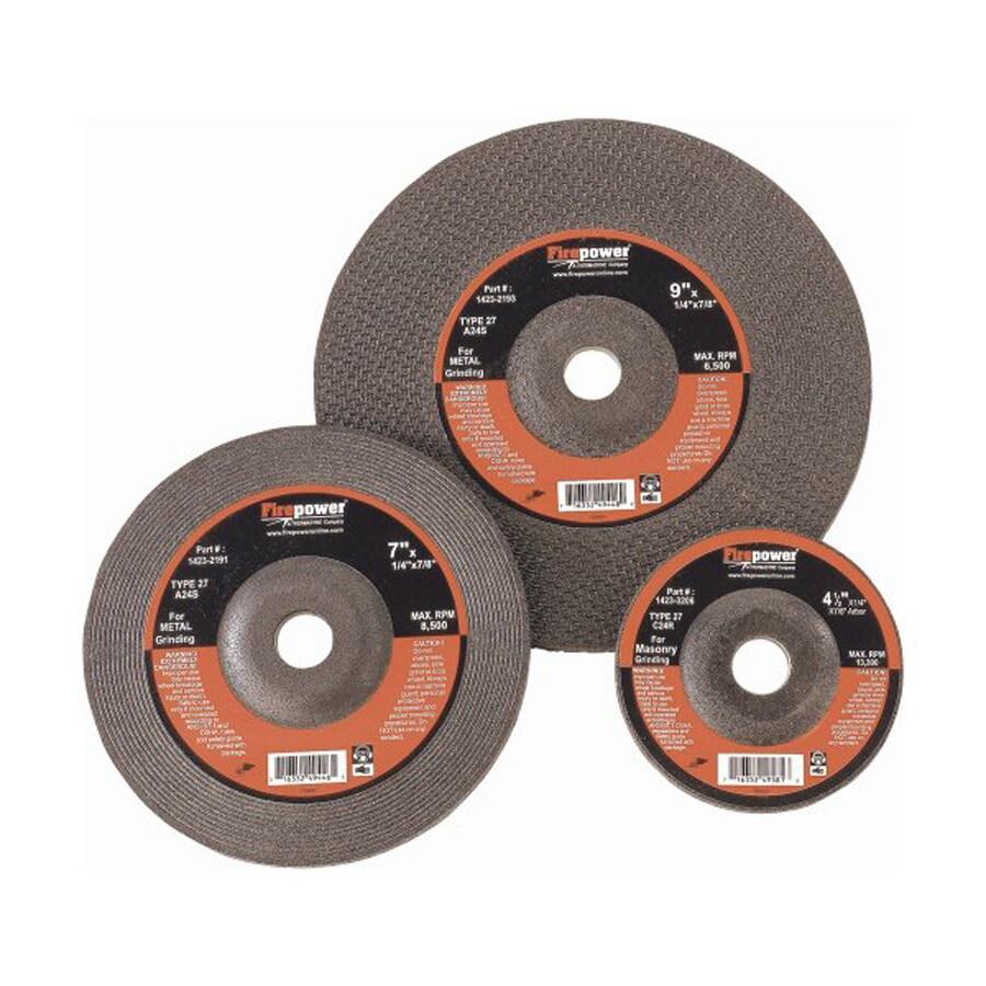 Firepower 5-Piece Aluminum Oxide 4-in Grinding Wheels