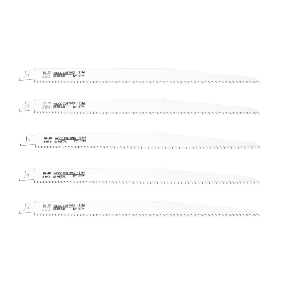 Morris Products 5-Pack 12-in 6-TPI Bi-Metal Reciprocating Saw Blade