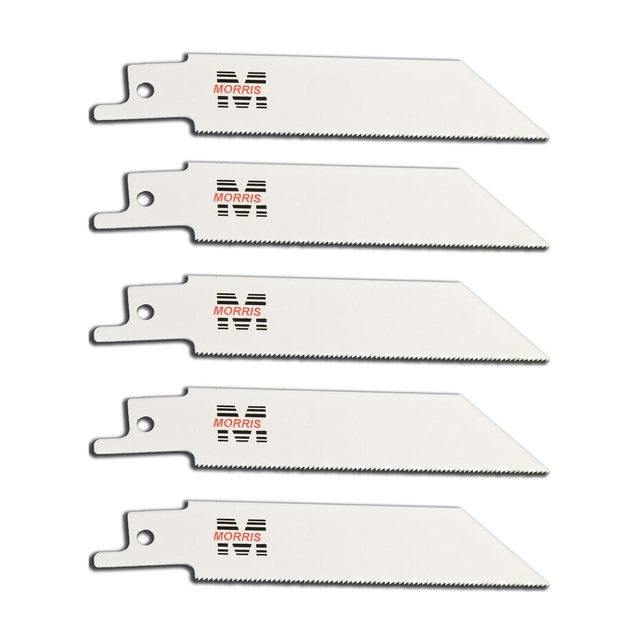 Morris Products 5-Pack 4-in 18-TPI Bi-Metal Reciprocating Saw Blade Set