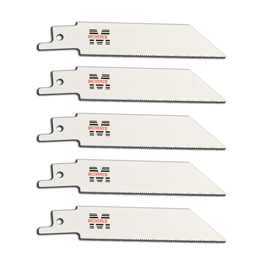 Morris Products 5-Pack 4-in 24-TPI Bi-Metal Reciprocating Saw Blades