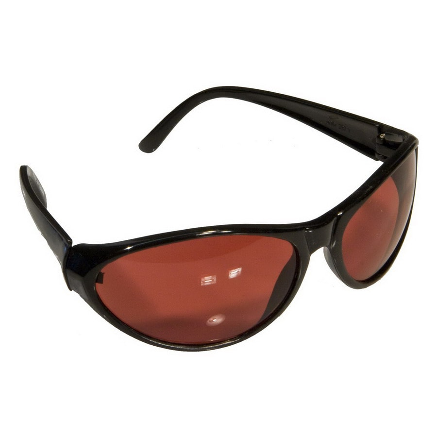 Morris Products Black Copper Lens Sporty Safety Glasses