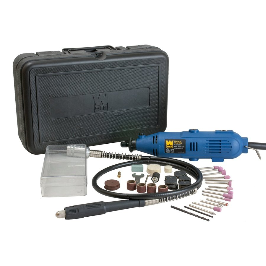 WEN 80-Piece Variable Speed Rotary Multipurpose Rotary Tool Kit with Hard Case Case