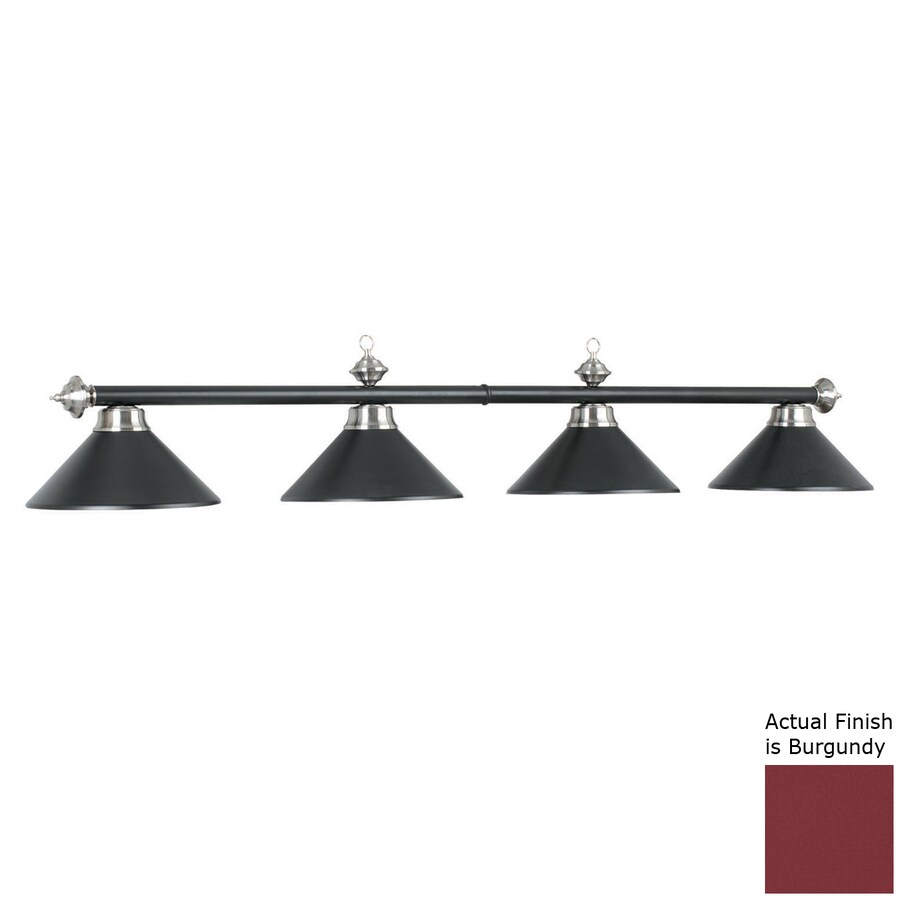 RAM Gameroom Products Matte Burgundy 4-Light Pool Table Lighting