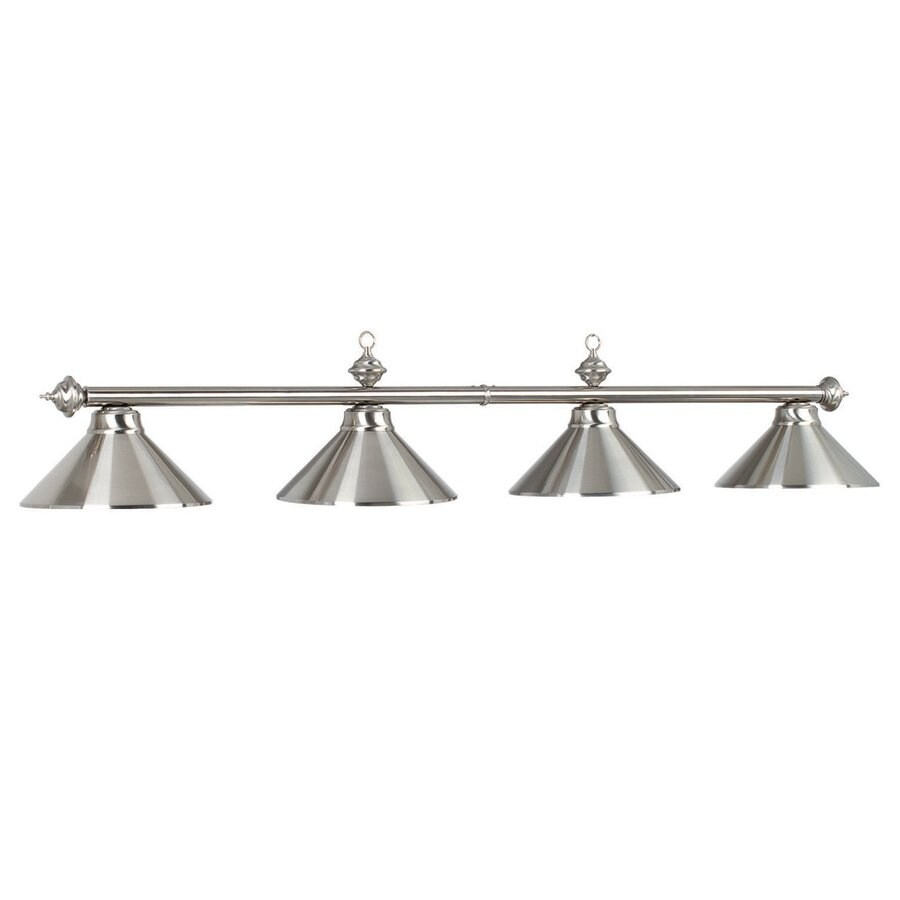 RAM Gameroom Products Stainless Steel 4-Light Pool Table Lighting
