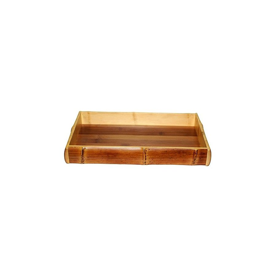 Bamboo 54 17-in x 11-in Wood Rectangle Serving Tray