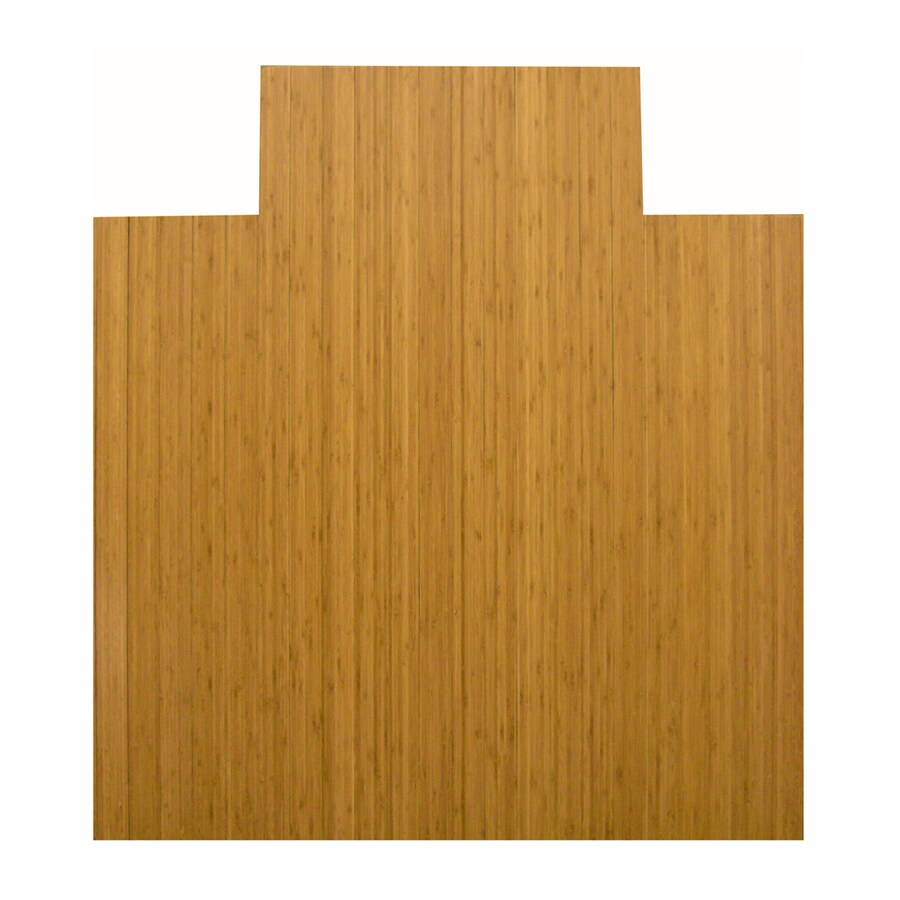 Anji Mountain Brown Rectangular Chair Mat (Common: 3-ft x 4-ft; Actual: 44-in x 52-in)