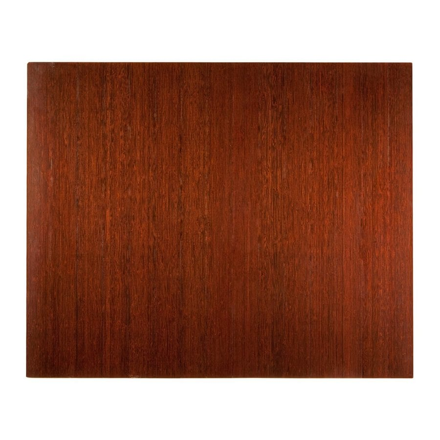 Anji Mountain Brown Rectangular Chair Mat (Common: 4-ft x 5-ft; Actual: 48-in x 60-in)